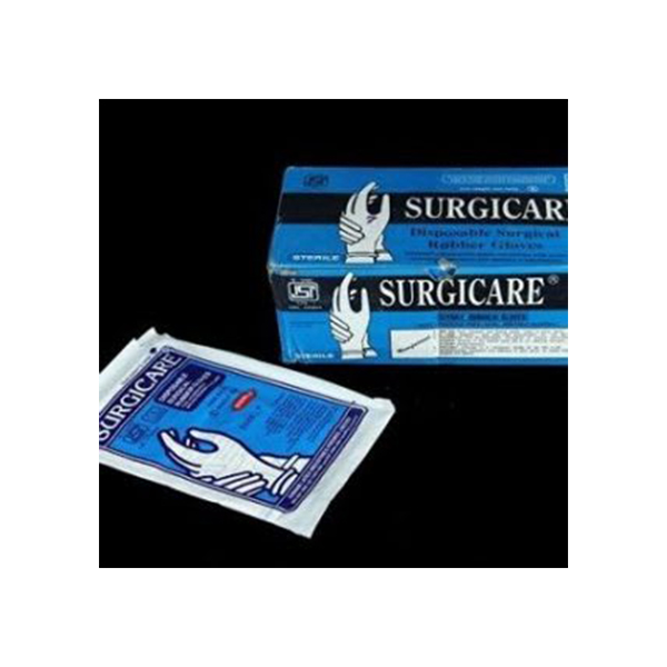 Surgicare Disposable Surgical Rubber Gloves 7.5 1