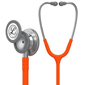 3M™ Littmann® Classic III™ Monitoring Stethoscope, 5629, orange tube, 27 in (69 cm