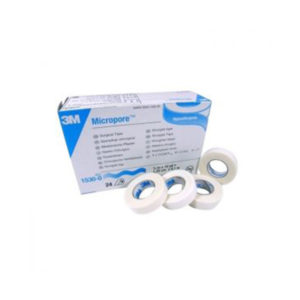 3M™ Micropore™ Surgical Tape 1530 0 1.25 Cm X 9.14 M 1 2″ X 10 Yards 24 Rolls Per Box