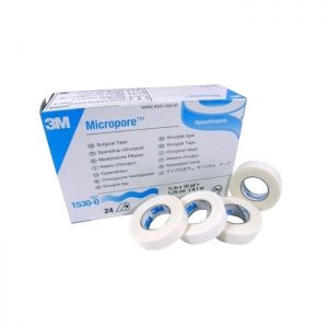 3M™ Micropore™ Surgical Tape 1530-0, 1.25 cm x 9.14 m (1/2″ X 10 yards), 24 rolls per box