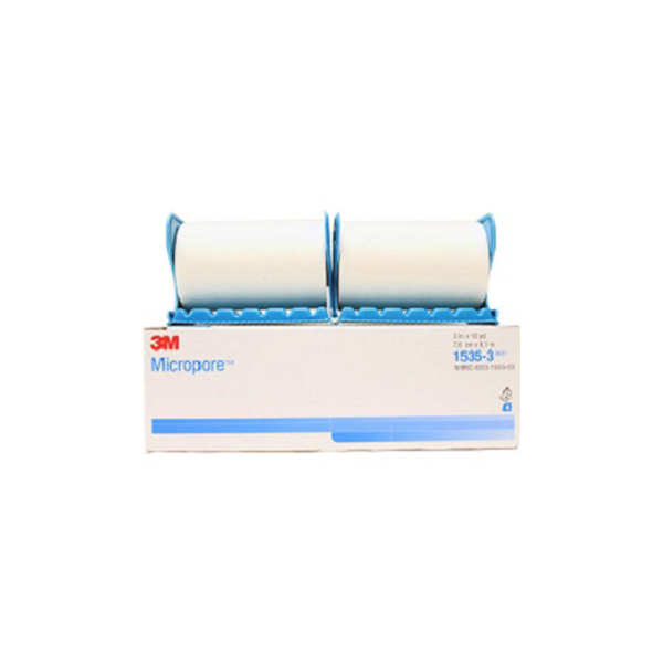 3M™ Micropore™ Surgical Tape With Dispenser 1535 3 7.6cm X 9.14 M 1