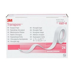 3M™ Transpore™ Medical Tape, 1527-0, 1/2 in x 10 yd