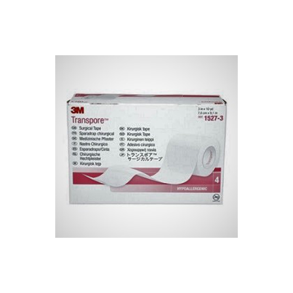 3M™ Transpore™ Medical Tape 1527 3 Porous Clear 3 In X 10 Yd 1