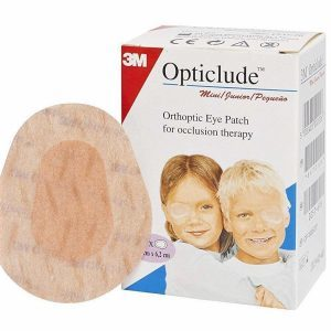3M JUNIOR Opticlude Orthoptic Adhesive Eye Patch Box Of 20 (1537)-Junior