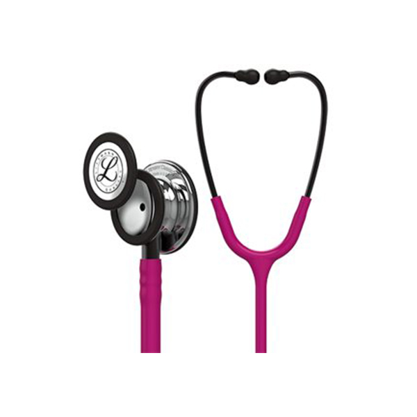 3M Littmann 5862 Classic III Mirror Finish Chest Piece Stethoscope Raspberry Tube 1