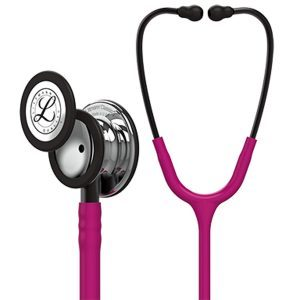 3M Littmann 5862 Classic III Mirror Finish Chest Piece Stethoscope, Raspberry Tube