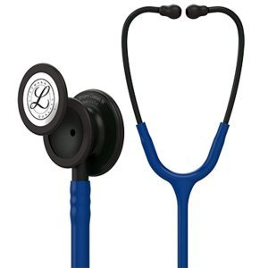 3M Littmann 5867 Classic III Stethoscope with Black-Finish Chestpiece (Navy Blue)