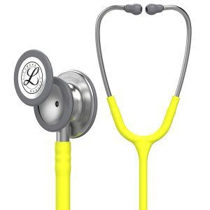 3M Littmann Classic III Stethoscope, Lemon-Lime Tube, 27 inch, 5839