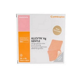 Allevyn AG Gentle Border dressing 10 x 10