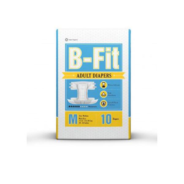 B FIT Adult Diapers Medium 28 44 Inch GCo 10 Pieces