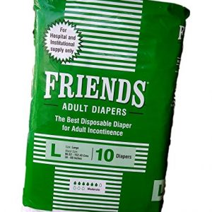 Friends Adult Diapers 10's Large-Hospital