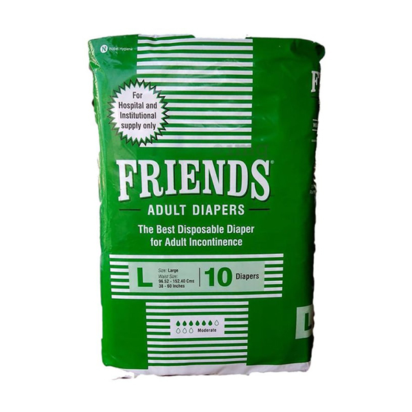 Friends Adult Diapers 10GCOS Large Hospital