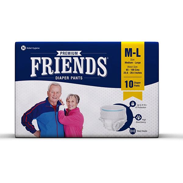 Friends Pullups Pant Style Adult Diaper Medium Large 1