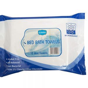 GINNI Bed Bath Towel, 10 Wet Towels