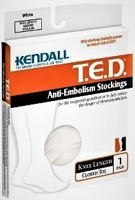 Kendall Ted Knee Length Antiembolism Stocking (XL) Reg Length Clear Code Grn – 1 Pair