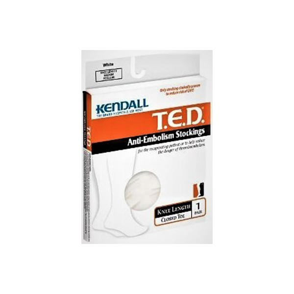 Kendall Ted Knee Length Antiembolism Stocking XL Reg Length Clear Code Grn GCo 1 Pair
