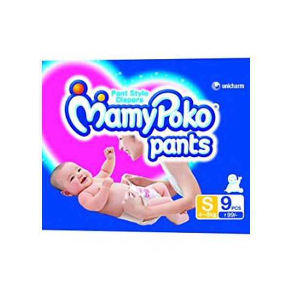 Mamy Poko Pant Style Small Size Diapers 9 Count
