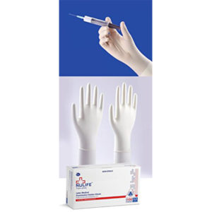 NULIFE LATEX EXAMINATION POWDERED GLOVES NON STERILE100 Psc 1