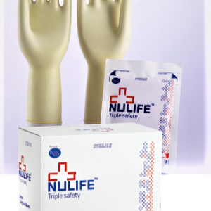 Nulife Disposable Latex Sterile Surgical Gloves -50psc(Size 6)