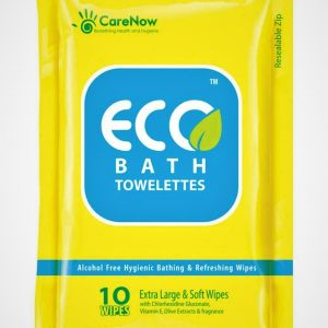 Nvey Eco Alcohol-free Hygienic and Antiseptic Large Bathing Wipes in a Ziplock Pack -Set of 40 Pieces