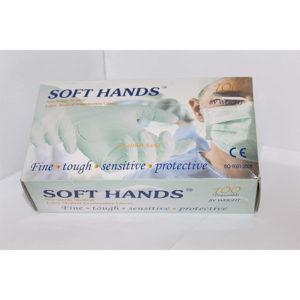 SOFT HANDS LATEX MEDICAL EXAMINATION GLOVES LARGE 1