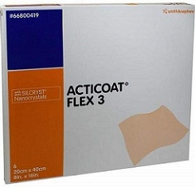 Smith & Nephew ACTICOAT FLEX 3 DRESSING 20CM X 40CM – 6 DRESSINGS