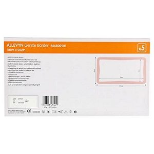 Smith and Nephew Allevyn Gentle Border10 X 20