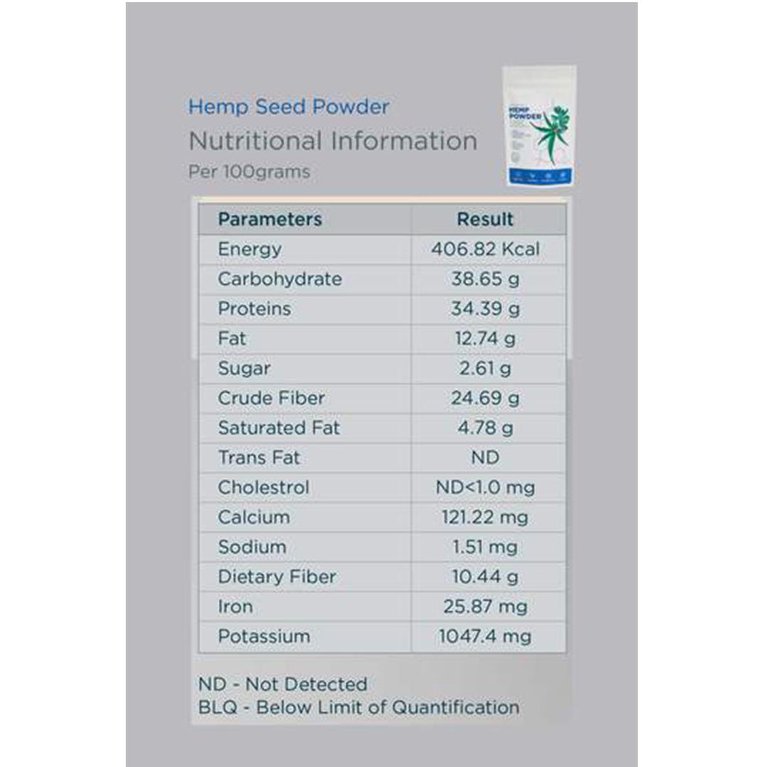 Hemp Seed Powder GCo 100g 3