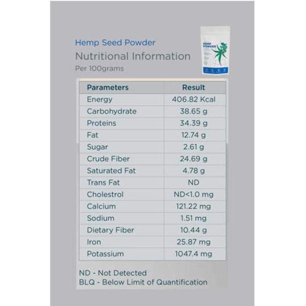 Hemp Seed Powder GCo 500g 4