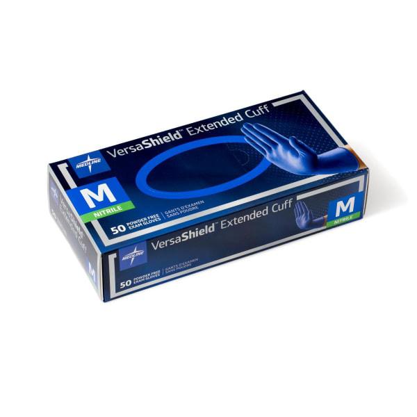 VersaShield Extended Cuff Powder Free Nitrile Exam Gloves 12 Inch