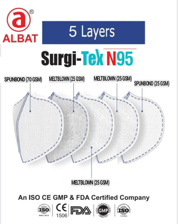 N95 Mask with Nose Filter