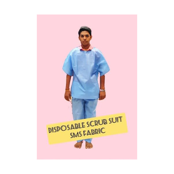 Kavach Disposable Scrub Suit Sms Fabric 1