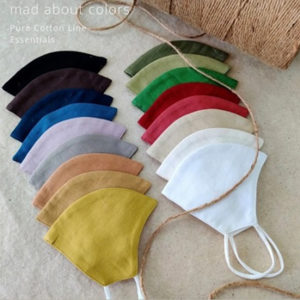Kavach Two Layered Multicolor Plain Fabric Masks 1