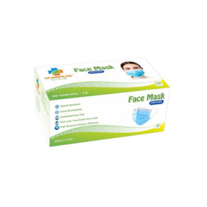 MAGNUS M 342 3 PLY DISPOSABLE MASK PACK OF 50 PCS With NOSE PIN MELTBLOWN FIBRE FILTER LAYER 1 2