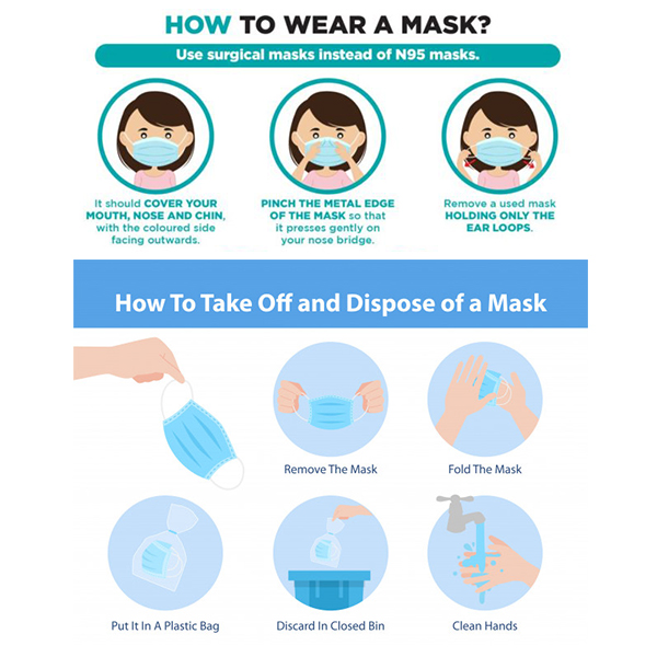 MAGNUS M 342 3 PLY DISPOSABLE MASK PACK OF 50 PCS With NOSE PIN MELTBLOWN FIBRE FILTER LAYER 4 2