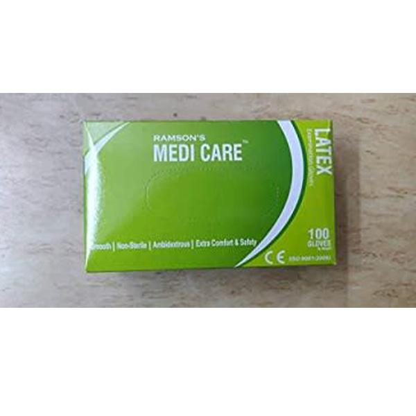 Medicare Latex Examination Gloves Box White Medium 1 1