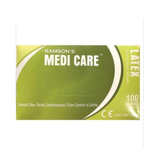 Medicare Latex Examination Gloves Box White Medium