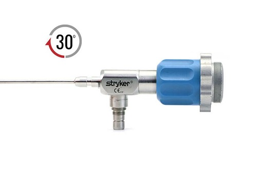 Stryker 2.3 mm 30o Autoclavable Arthroscope C Mount Speed Lock™ 72 mm