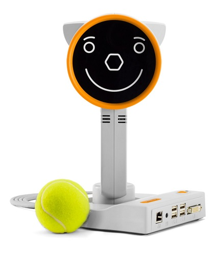 Plusoptix S16 front view with ball