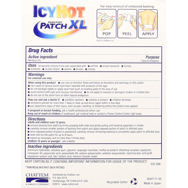 Icy Hot® Extra Strength 3 Count XL 1