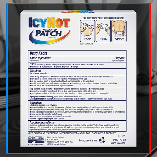 Icy Hot Patch 6