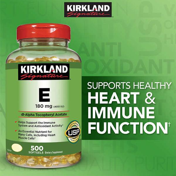 Kirkland Signature Vitamin E 180 mg. 1