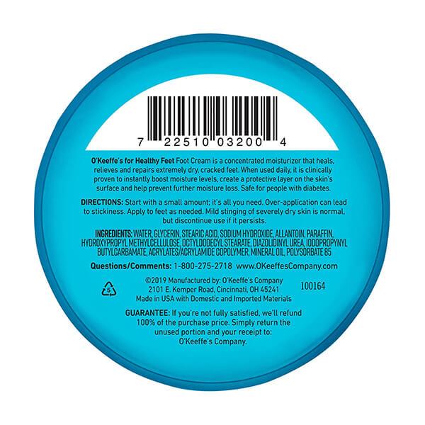 O Keeffe s Healthy Fee 3.2 oz. Foot Cream Jar 1