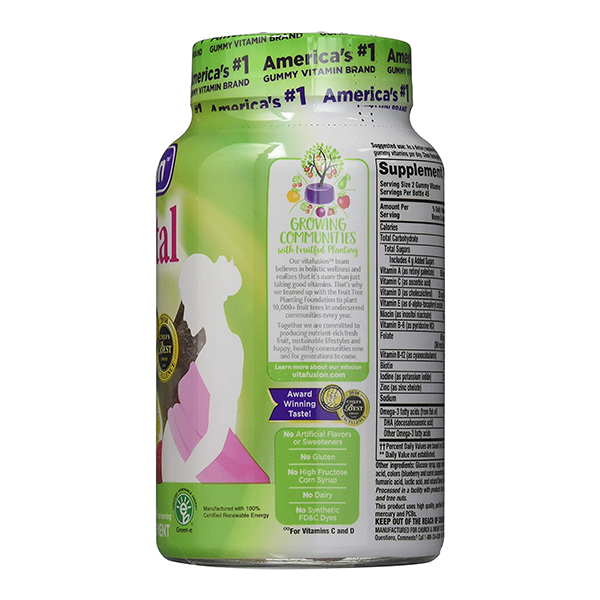 Vitafusion® 90 Count Prenatal DHA Folic Acid Gummy Vitamins 1