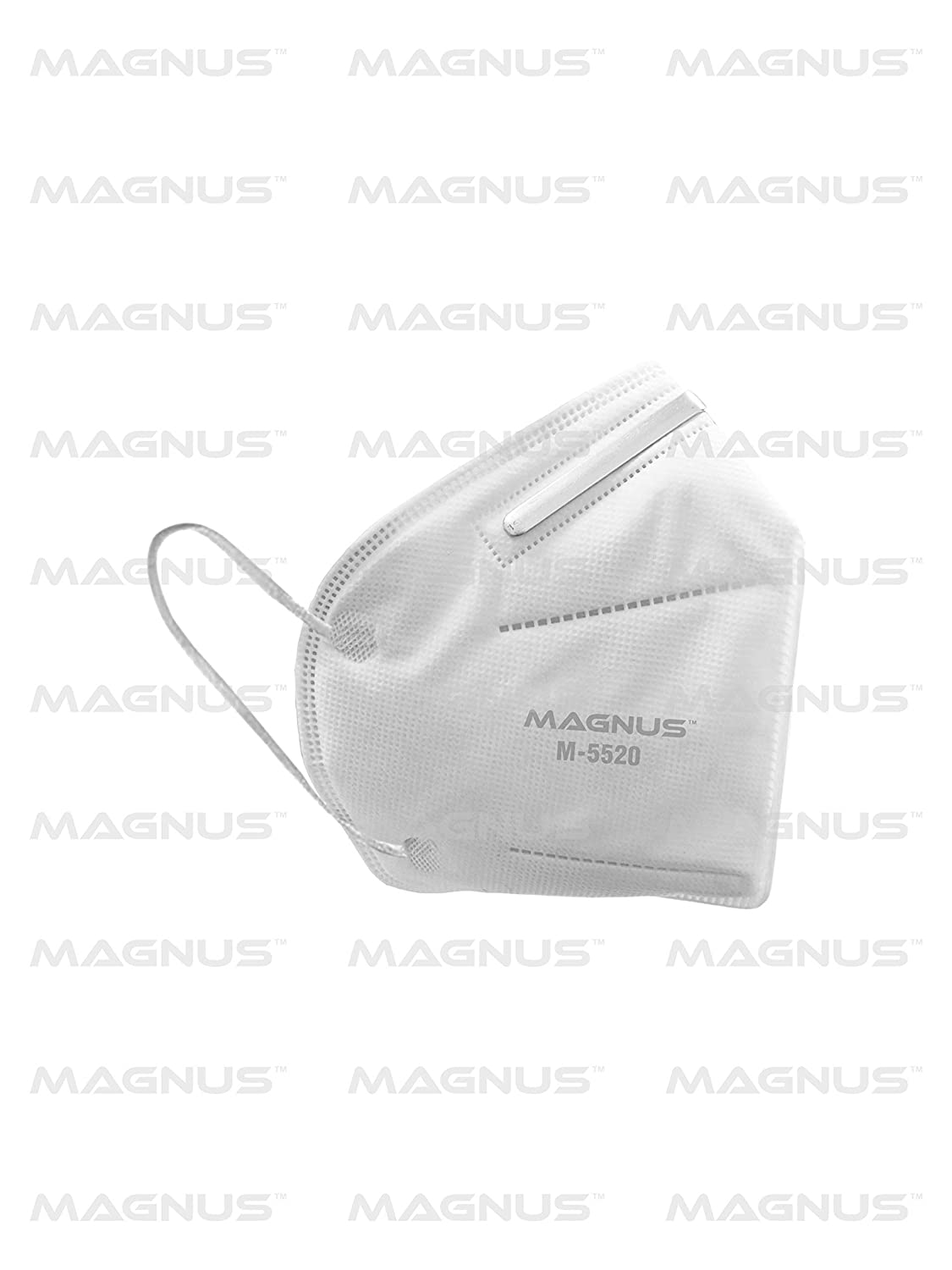 Magnus Non Woven M5520 Embedded Nose clip Super Saver Disposable Double Meltblown Filter Layer Face Masks White 2