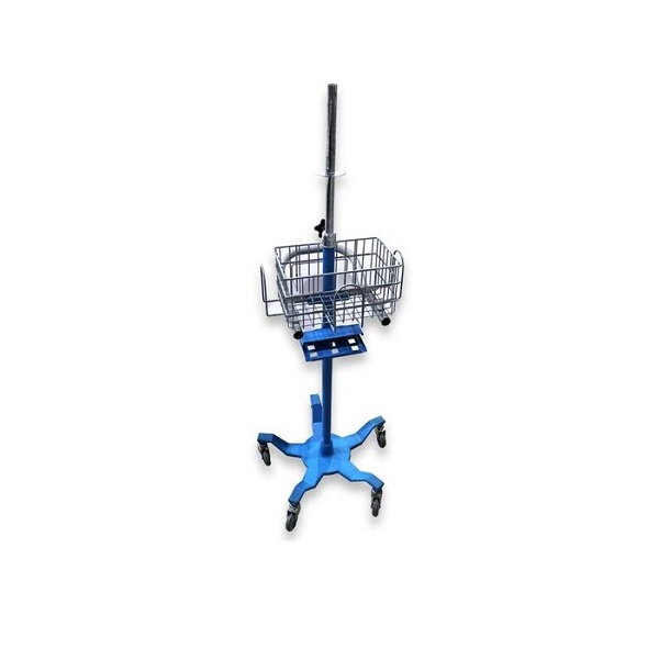 DinaMap Patient Monitoring Roll Stand Blue
