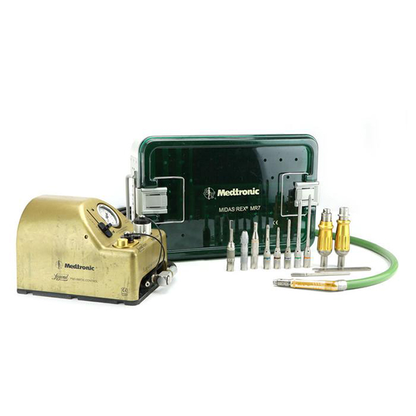 Medtronic Midas Rex V03 Drill with Attachments and Case