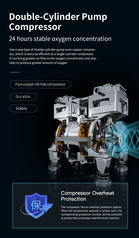 Oxygen concentrator model DE Y5AW 8