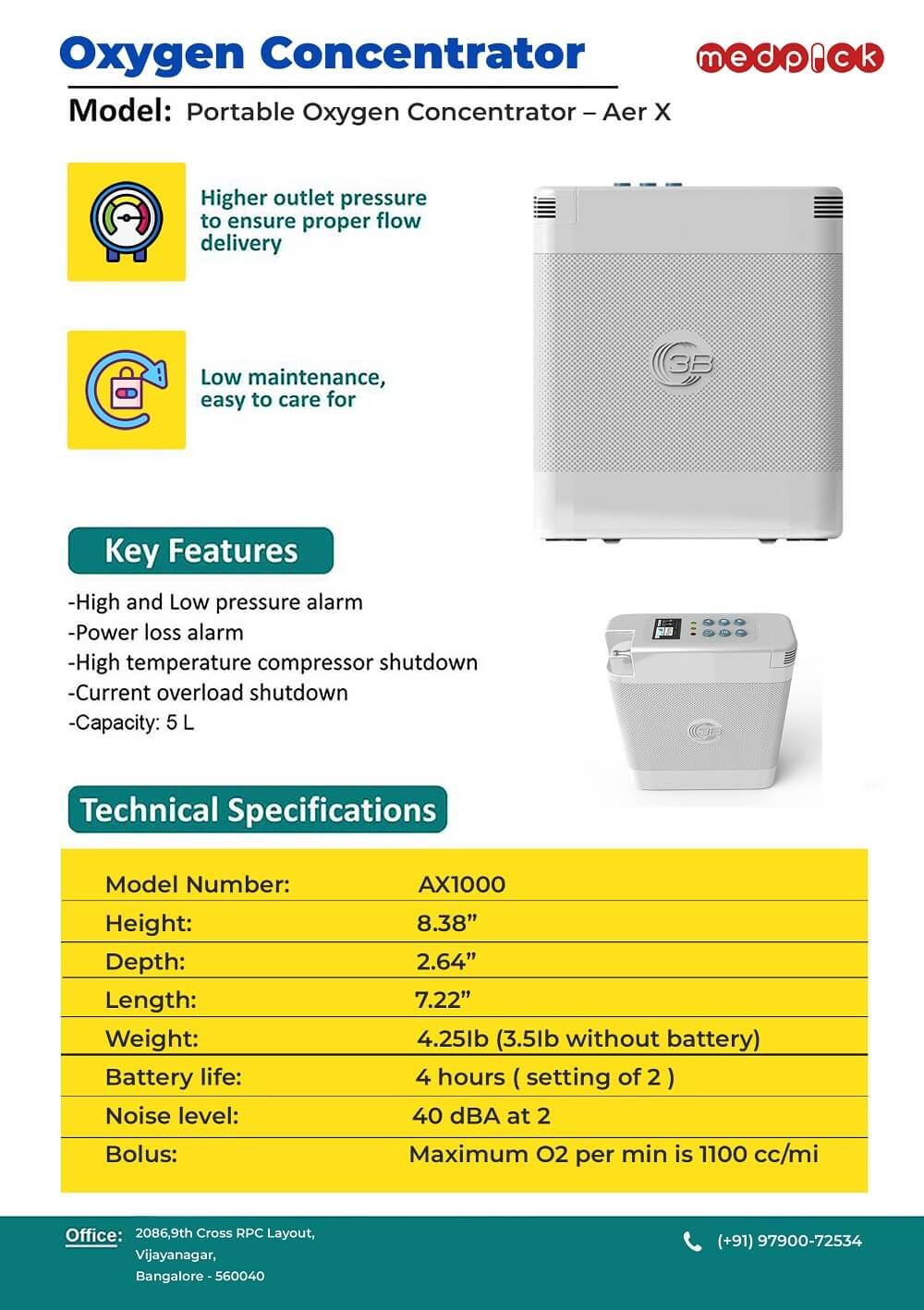 Portable Oxygen Concentrator – Aer X 2