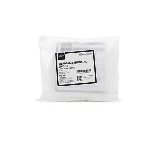 Disposable Neonatal BP Cuff 1 Tube HP 4 Soft PVC